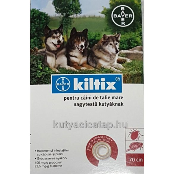 Kiltix bolhanyakörv kutyának 70 cm Bayer