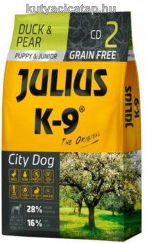 Julius K-9 Grain Free Puppy & Junior City Dog - kacsa és körte 10 kg