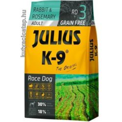 Julius K-9 Grain Free Adult Race Dog nyúl és rozmaring