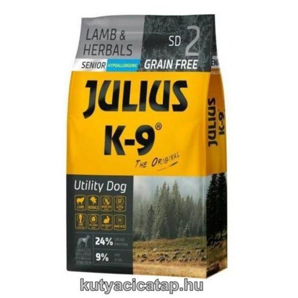 Julius K-9 Grain Free Senior Utility Dog - bárány és gyógynövény 10 kg