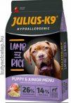 Julius-K9 Hypoallergenic Puppy & Junior - Bárány és rizs 12 kg