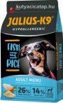 Julius-K9 Hypoallergenic Adult - Hal és rizs 12 kg