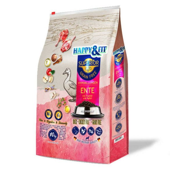 Happy&Fit Superior Grain Free Hypoallergen Kacsa 10 kg
