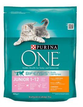 Purina One  junior csirke macska szárazeledel 800gr