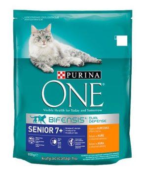 Purina One  senior 7+ csirke macska szárazeledel 800g