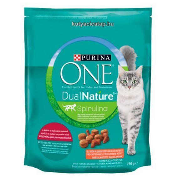 Purina One Dual Nature Steril marha macska szárazeledel 750g