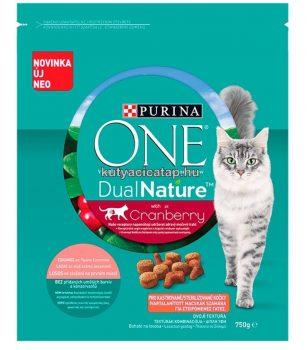 Purina DualNature Cranberry  steril macskáknak lazaccal 750 gr