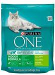 Purina One  adult indoor pulyka macska szárazeledel 800g