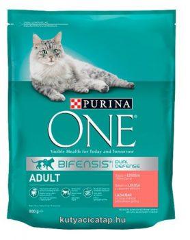 Purina One Adult Lazac macska  szárazeledel 800 gr