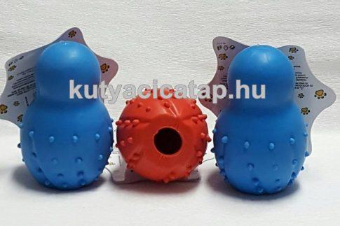 Csörgős jutalomfalat adagolós gumi játék 9.5cm
