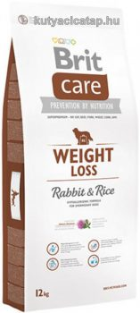 Brit Care - Weight Loss Nyúl-rizs 12kg